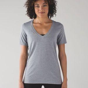 Lululemon Love Tee V neck Grey Size 6